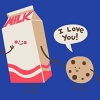 milk and cookie love
