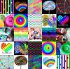multi color collage