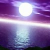 moon over ocean