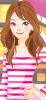 Cute brunette doll