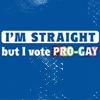 I'm Straight but I vote Pro Gay
