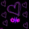 purple-pink emo hearts